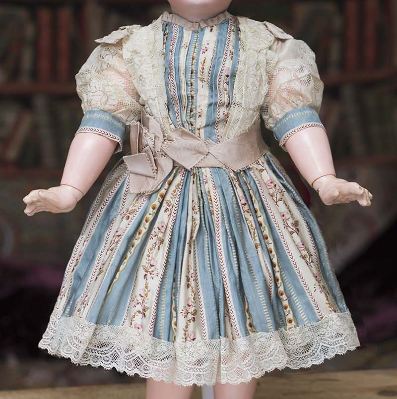 Antique SIlk dress for 21-22in doll