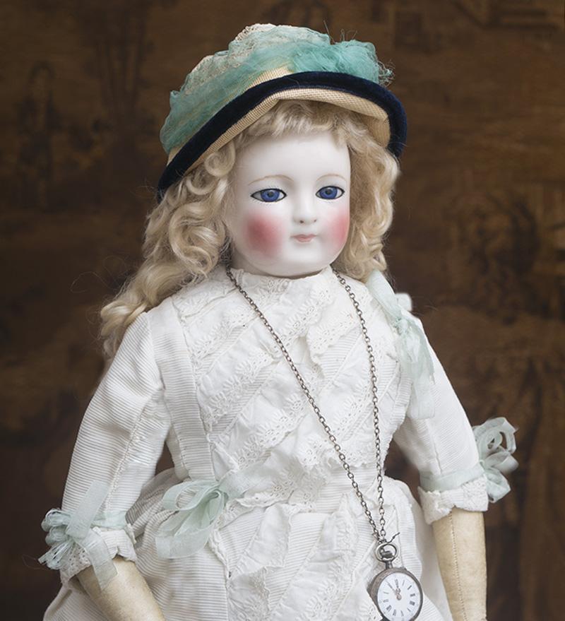 56 см Большая ранняя модная кукла  Blampoix, 1860е годы