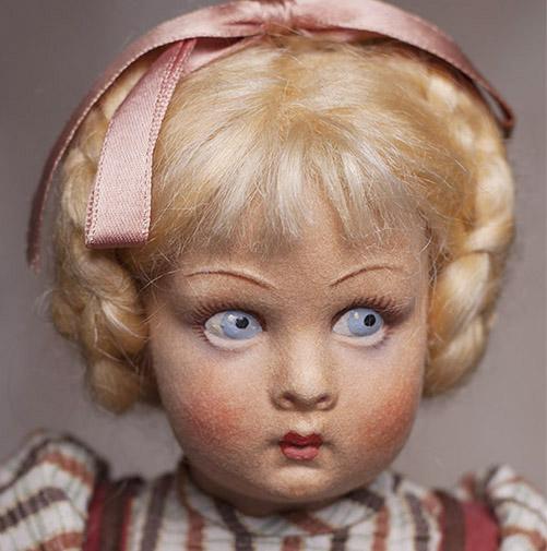 A Lenci felt pre-teen girl doll