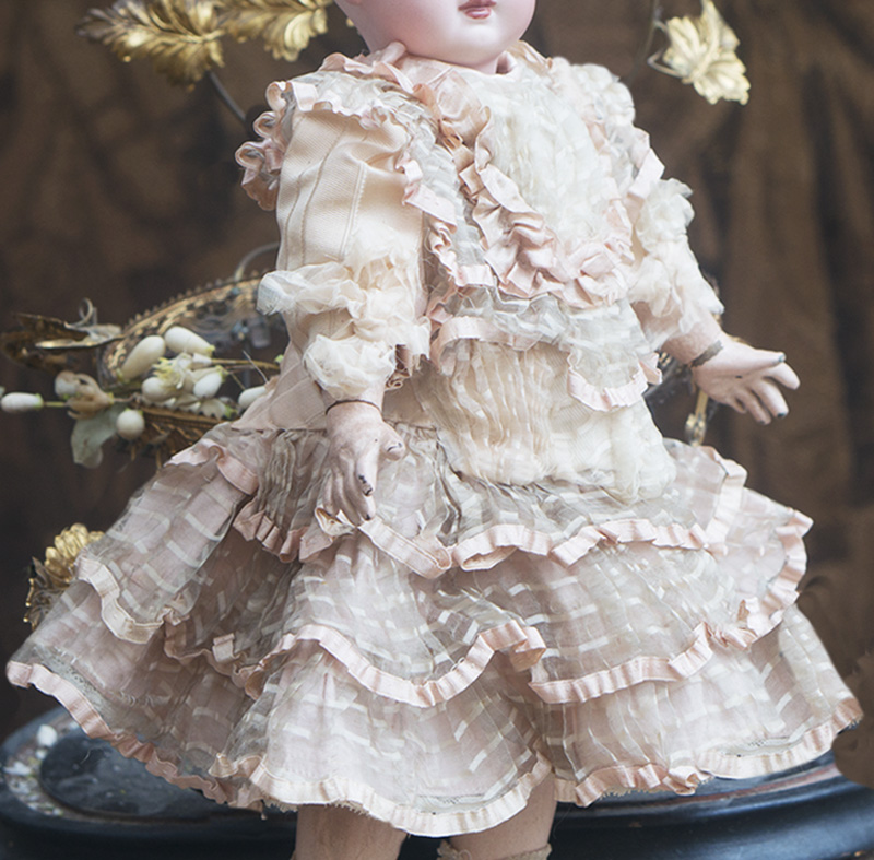 Antique Silk Dress for doll