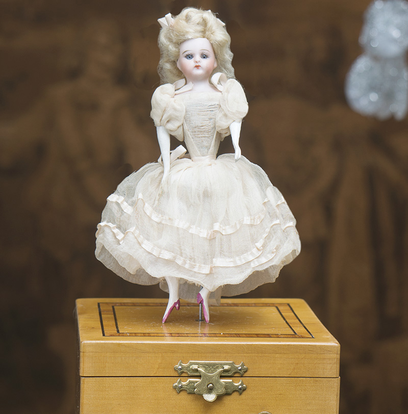 French Mechanical Musical Dancing doll