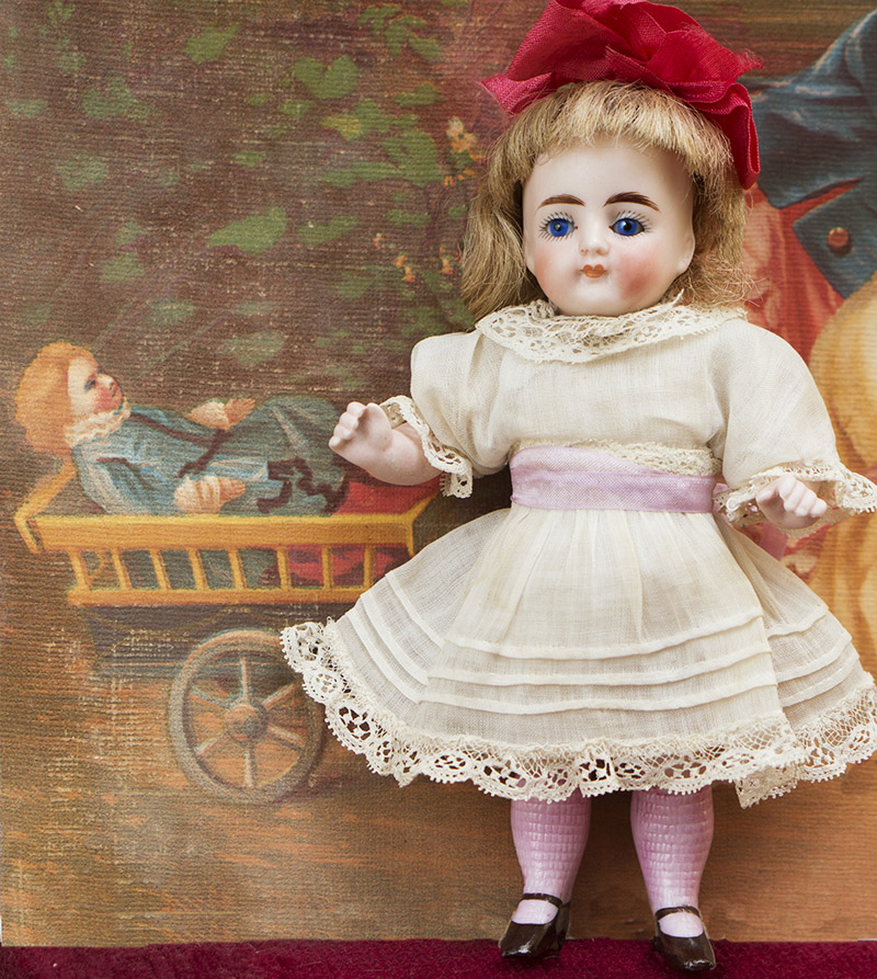 15 cм Полностью Фарфоровая Куколка Кестнер, 1900е годы
