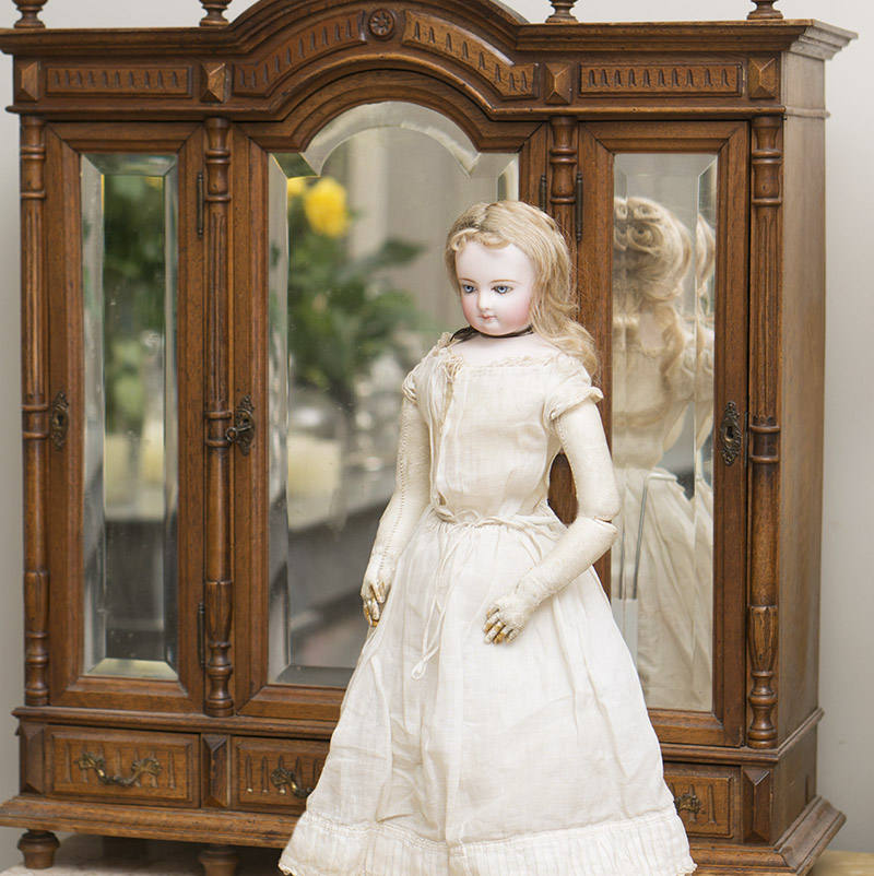 Antique fashion doll armoire