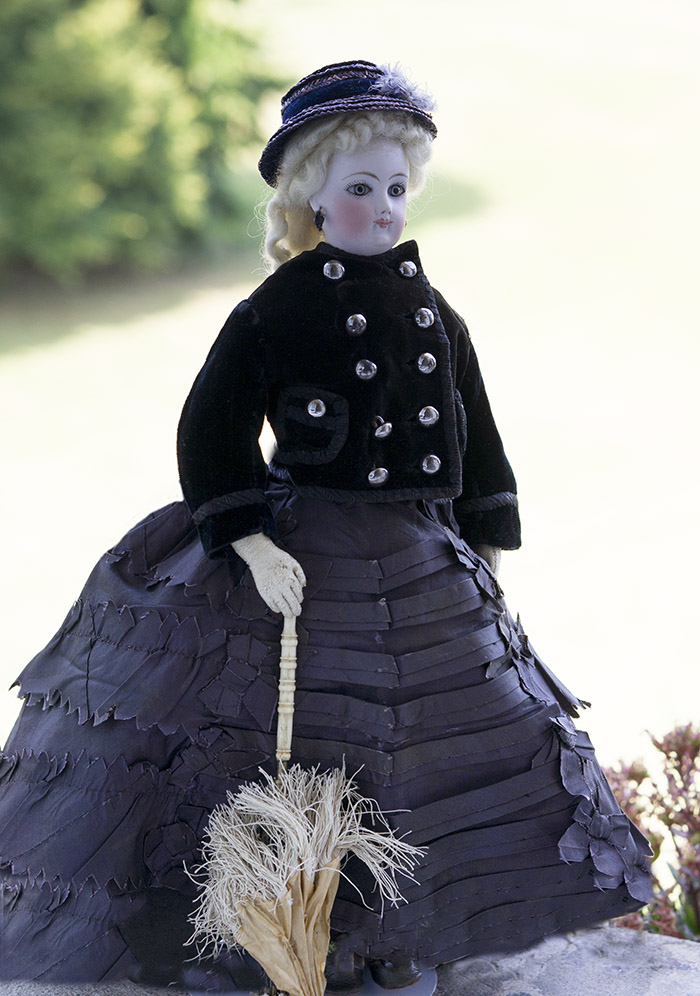 Модная кукла Jumeau в отличном состоянии высотой 38 см, 1875 г.