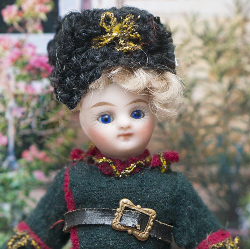 11см  куколка-mignonette в костюме казака