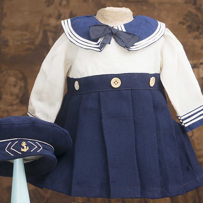 Antique Sailor dress and hat