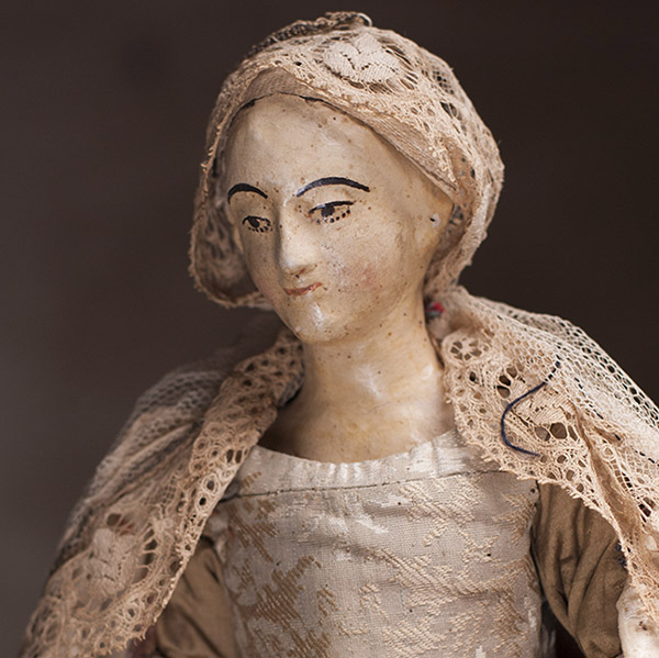 Carved Wooden Doll 18C.