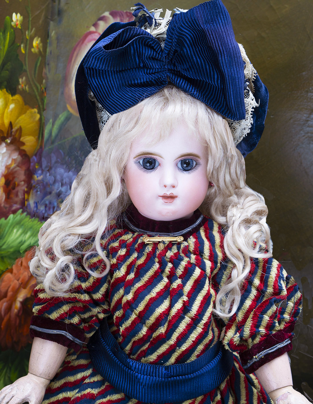 51см Редкая Французская кукла Bebe Mascotte компании MAY FRERES