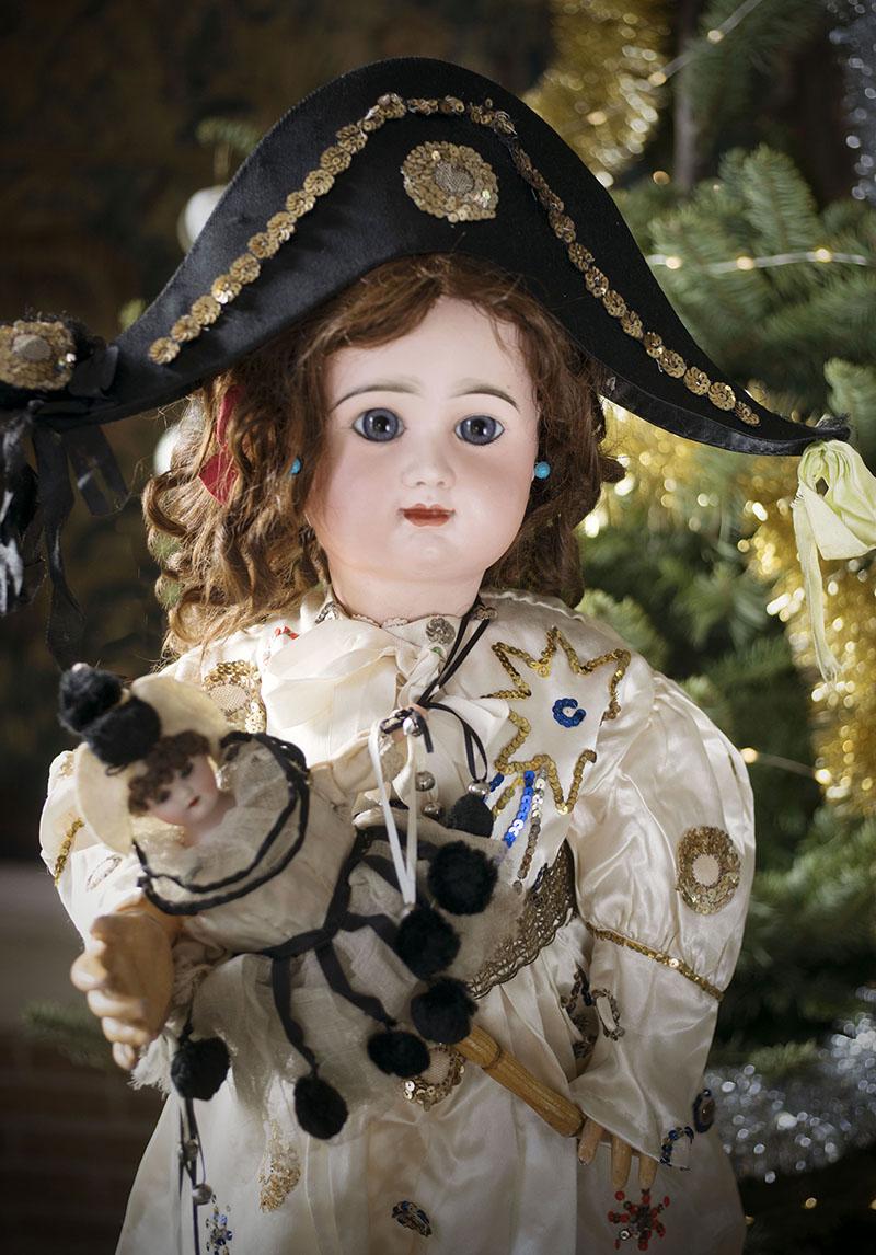79см Большая кукла Rabery &Delphieu в роскошном карнавальном костюме